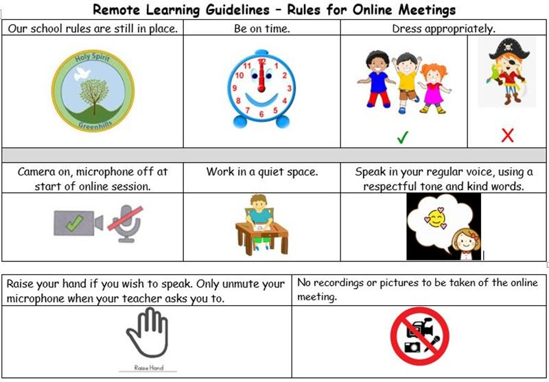 Remote Learning Rules for Students.JPG